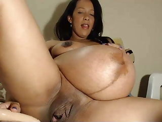 9th month pregnant, big nipples, mommy