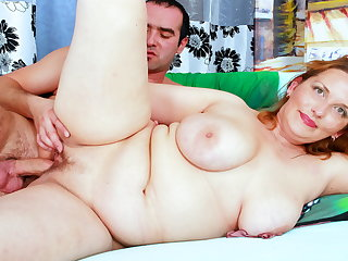 Chubby Mom With Chunky Saggy Tits Seduces Son's Band together to Fuck