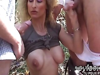 Horny Guys Tries Outdoor Sex With Old woman