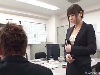 Busty nude Tokyo babe is here for a crazy fuck at the office