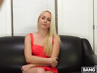 Blonde shoots her chief porno and gets a facial