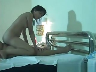 Poor Asian bimbo getting fucked by a small cock