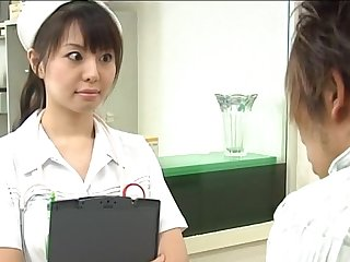 Passionate fucking on the hospital bed with sexy nurse Ai Takeuchi