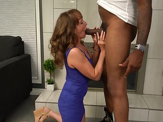 Horny mature wife enjoys having 3-way roughly a black and a white man
