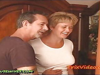 Mom with an increment of Dad Fuck an obstacle Babysitter Together