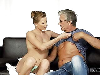 DADDY4K. Old and young sexual connection almost the villa after swimming