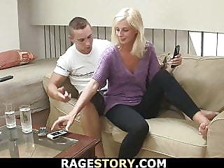She gets her throat and cunt fucked rough