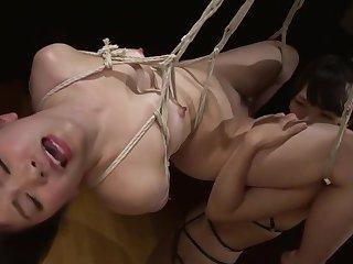 Pigeon-holing porn video featuring Mayuka Momota and Tsuna Kimura