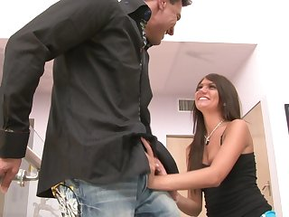 Lickerish dude enjoys stunning trine with Cassandra Nix and a handful of more girl