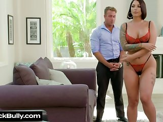 Caucasian brick residence Ivy Lebelle strips and fucks along the same lines as a pro