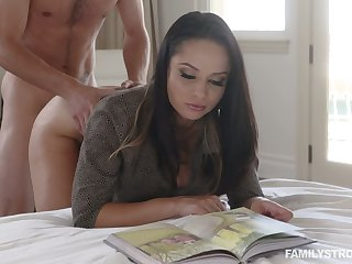 Hot busty Russian cowgirl Barometer Rush is fucked missionary style