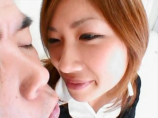 Her aroused Japanese cunt is eager for deep shacking up