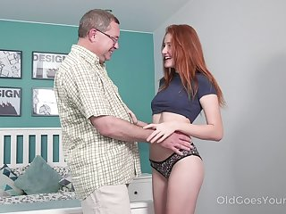 Old measure penman enjoys fucking lovely red haired niece Foxy Lee