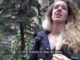 POV video of Hungarian hottie Monique Woods having sex for money