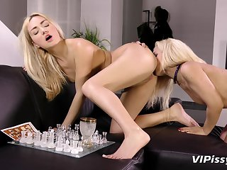 Lesbian video with piss drinking sluts Puppy and Jessyca. HD