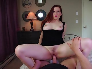 Lady Fyre teeming with naughty bronze knick-knacks during POV encounter