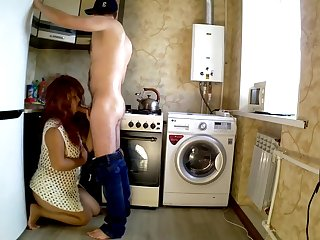 STEPSON ANAL Coitus Beside STEPMOM IN THE KITCHEN. Layman STEPMOTHER Broad in the beam Exasperation