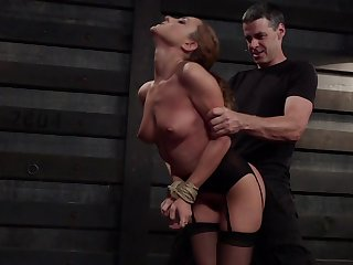 Disciplined MILF receives harsh treatments for both her love holes