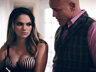 Brutal bald headed guy Derrick Prick bangs sexy bitch Athena Faris