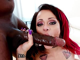Shocking BBC anal at hand Holly Hendrix and endowed Mandingo