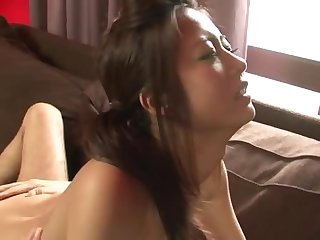 Naked together with handcuffed Japanese girl is pleasing her authority