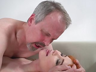 Horny old cadger has unforgettable sex with wife's cute stepdaughter